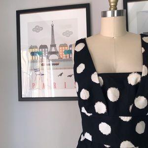 🍎Loft • Blurred Dot Square Neck Dress